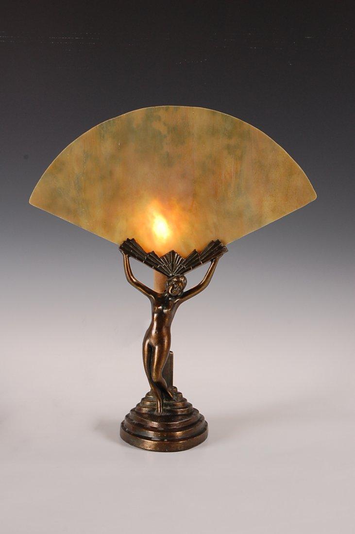 21: ART DECO NUDE FIGURAL LAMP CIRCA 1930