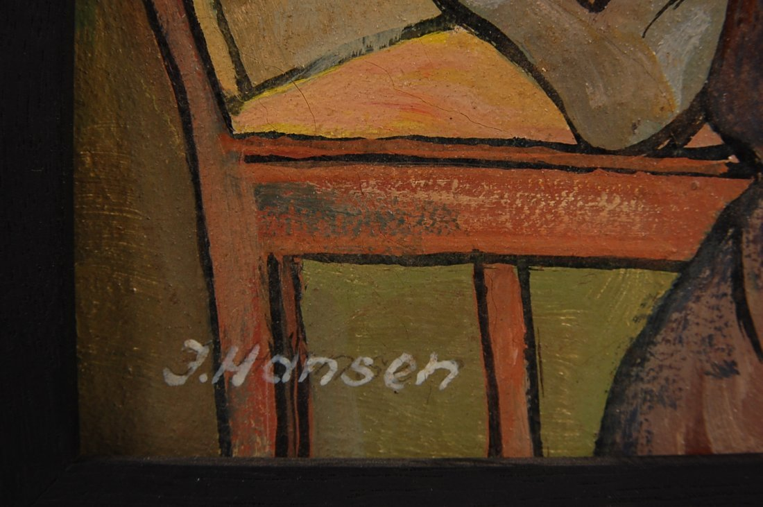 189: FOUR OIL ON CANVAS PAINTINGS SIGNED J. HANSEN, LAT - 2