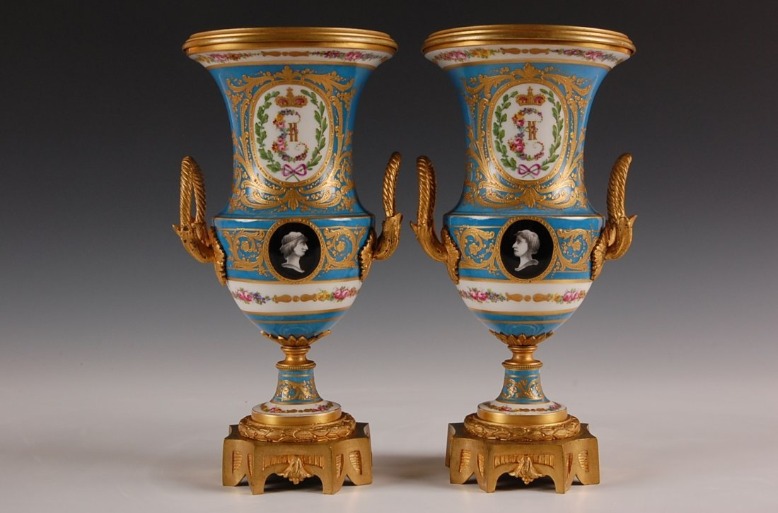 269: SEVRES URNS: RUSSIAN EMPRESS CATHERINE THE GREAT M