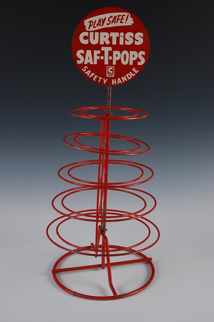 CURTISS SAF-T-POPS, DISPLAY RACK, CURTISS CANDY CO.