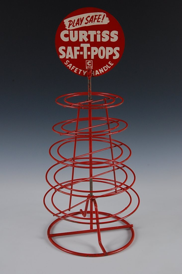CURTISS SAF-T-POPS, DISPLAY RACK, CURTISS CANDY CO. - 4