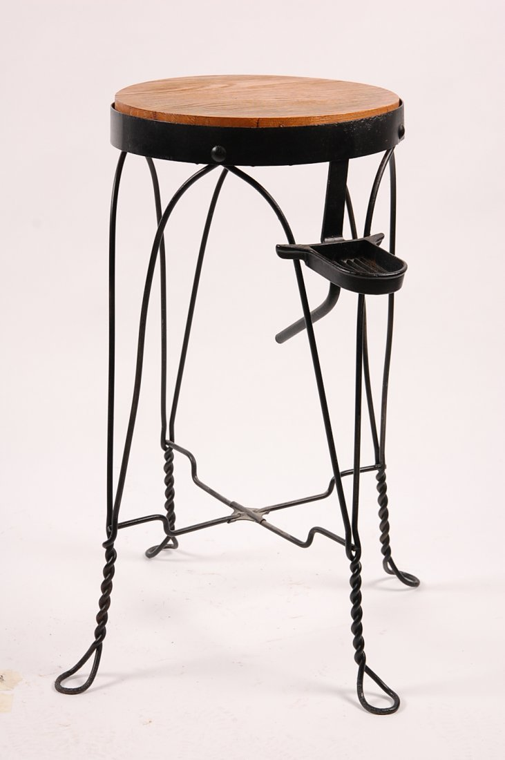 CIRCA 1920S TWISTED WIRE WATER COOLER STAND