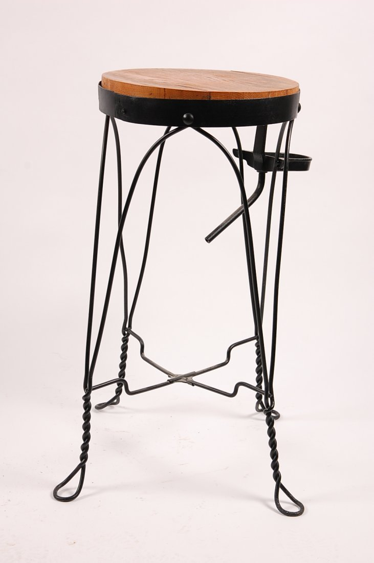 CIRCA 1920S TWISTED WIRE WATER COOLER STAND - 6