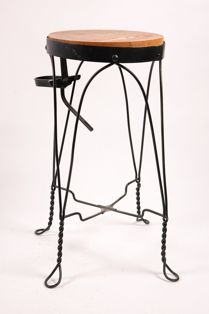CIRCA 1920S TWISTED WIRE WATER COOLER STAND - 7