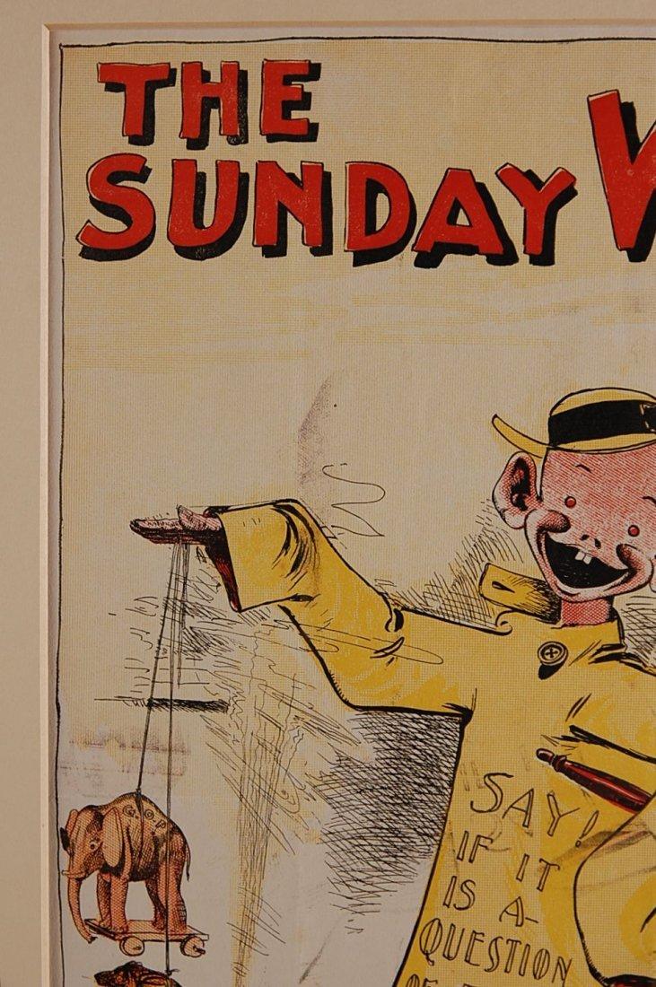 THE SUNDAY WORLD YELLOW KID ADVERTISING POSTER - 3