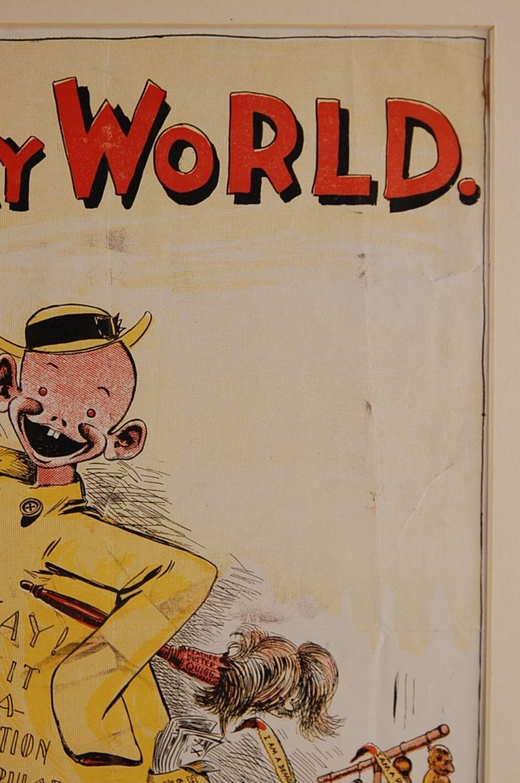 THE SUNDAY WORLD YELLOW KID ADVERTISING POSTER - 4