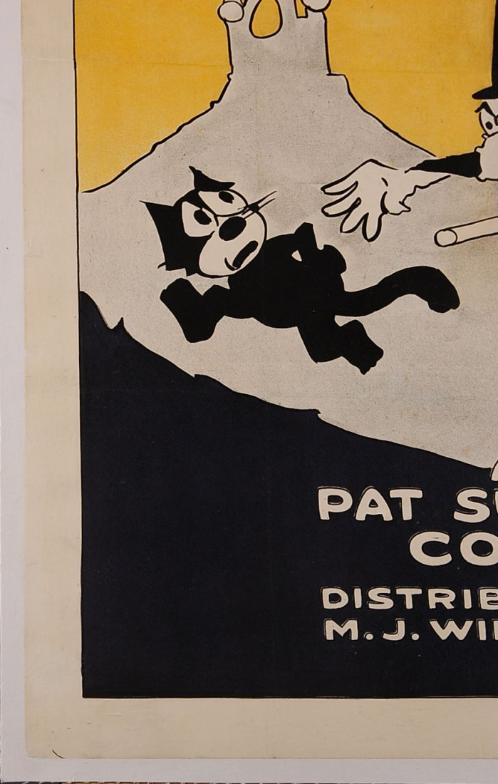 RARE ORIGINAL 1924 FELIX THE CAT MOVIE POSTER 'FELIX BR - 5