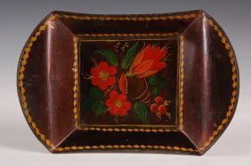 NICE NEW ENGLAND TOLE DECORATED TRAY
