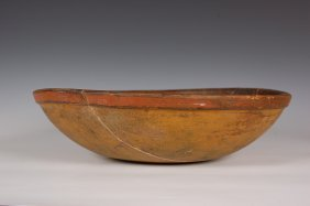 19TH CENTURY NEW ENGLAND PAINTED WOOD BOWL