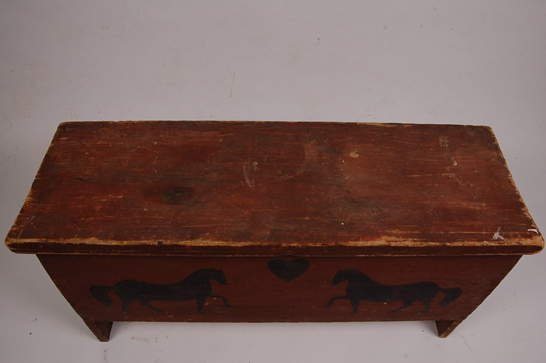 ANTIQUE SIX BOARD CHEST - 2