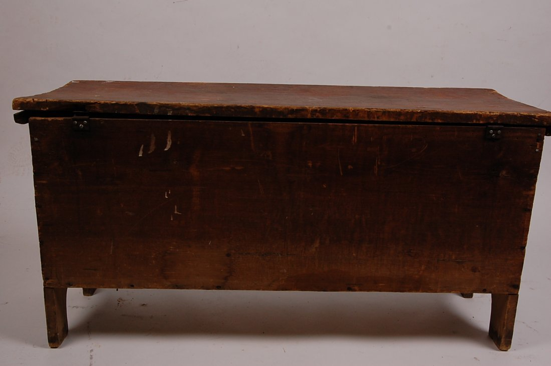 ANTIQUE SIX BOARD CHEST - 7