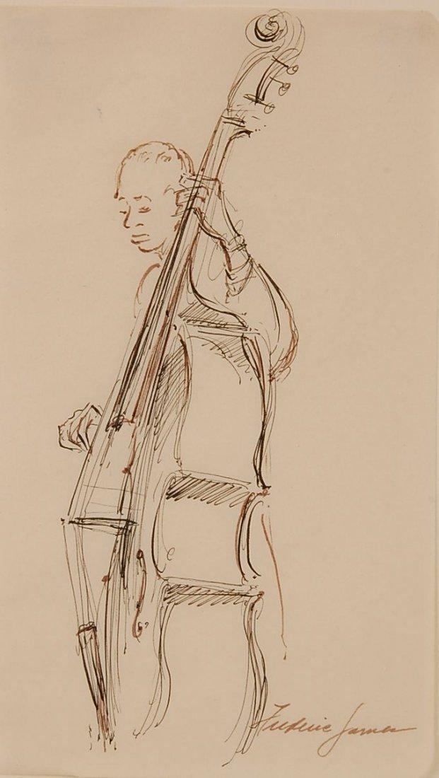 FREDERIC JAMES (1915-1985) INK WASH ILLUSTRATION