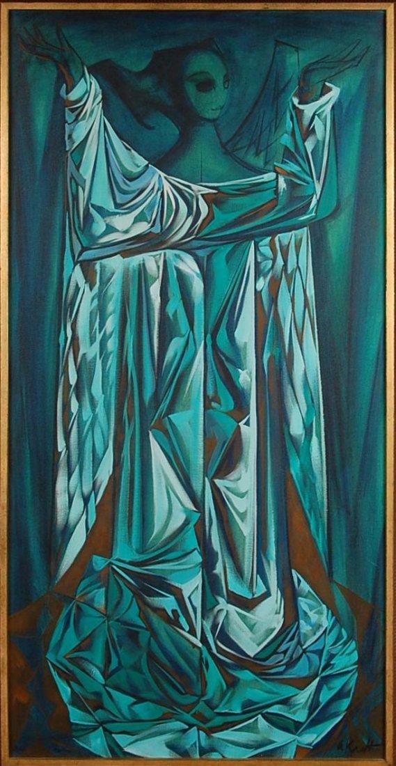 ARTHUR M. KRAFT  (1922-1977) OIL ON CANVAS