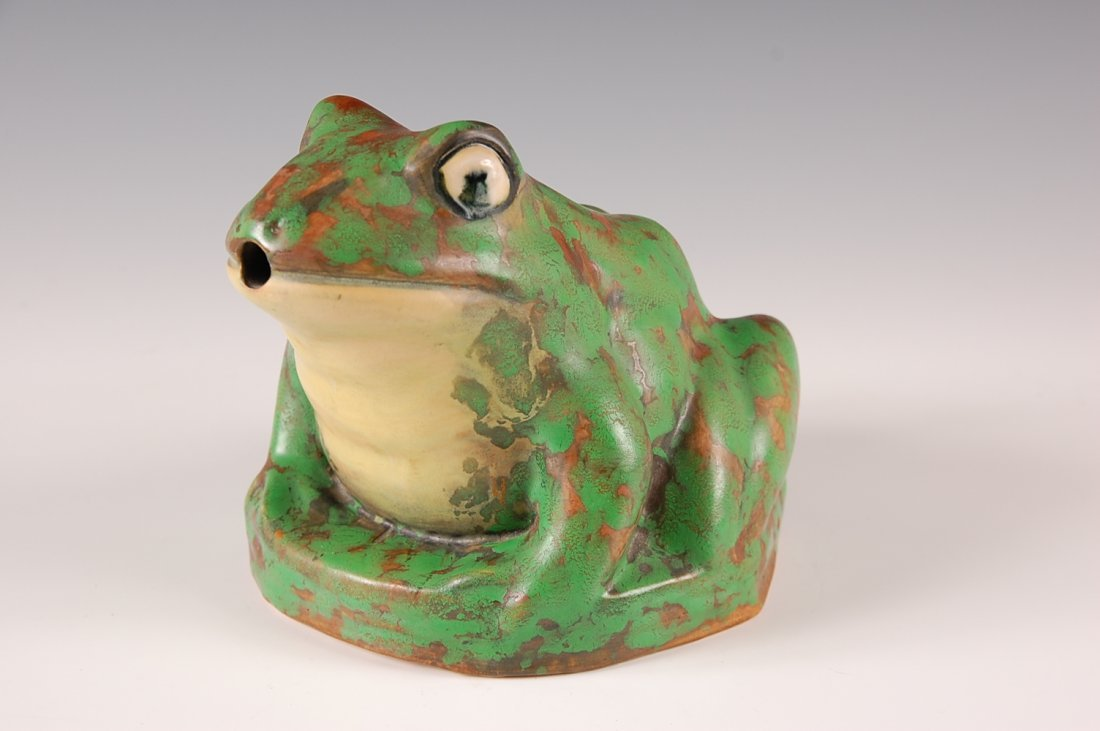 WELLER COPPERTONE FROG GARDEN FIGURE - 2