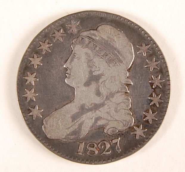 1827 LIBERTY BUST EAGLE HALF DOLLAR
