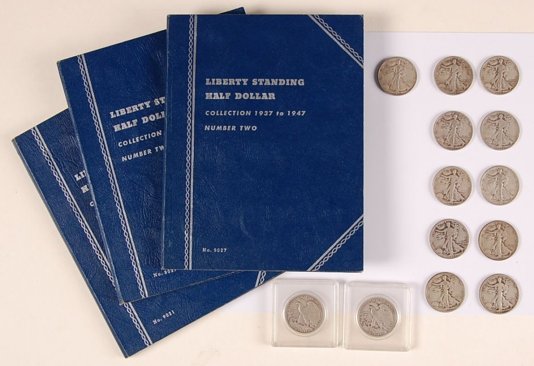 $60.50 FACE VALUE WALKING LIBERTY HALF DOLLARS