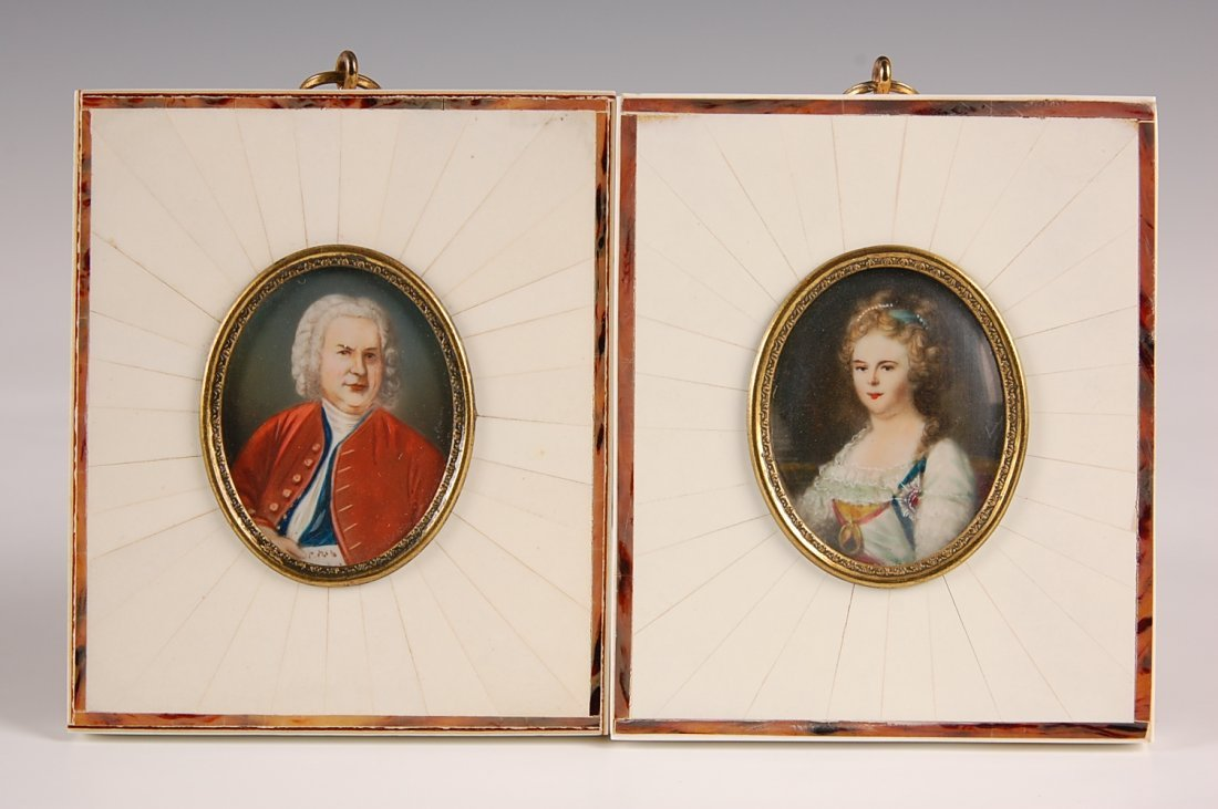 TWO MINIATURE PAINTINGS ON IVORY
