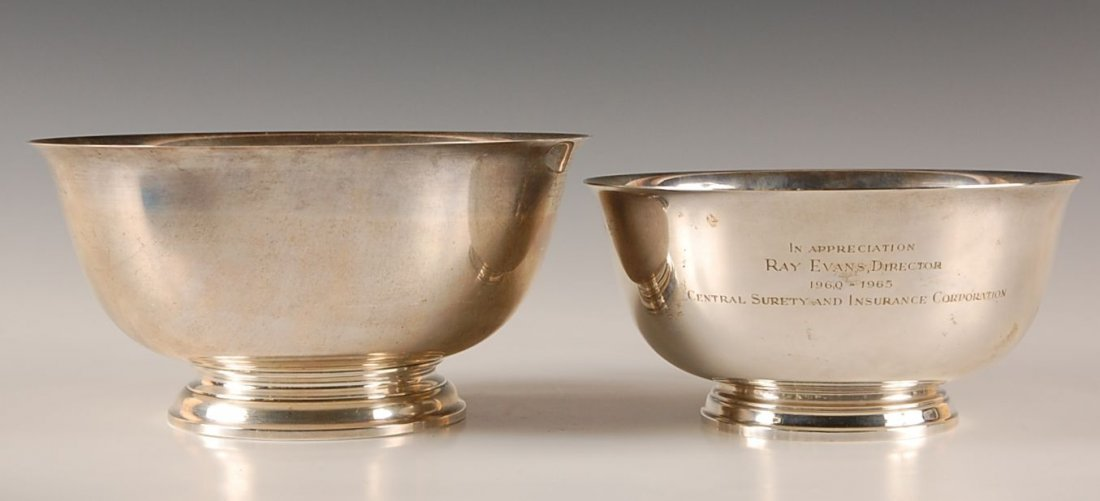 TIFFANY AND GORHAM UNDECORATED STERLING SILVER BOWLS