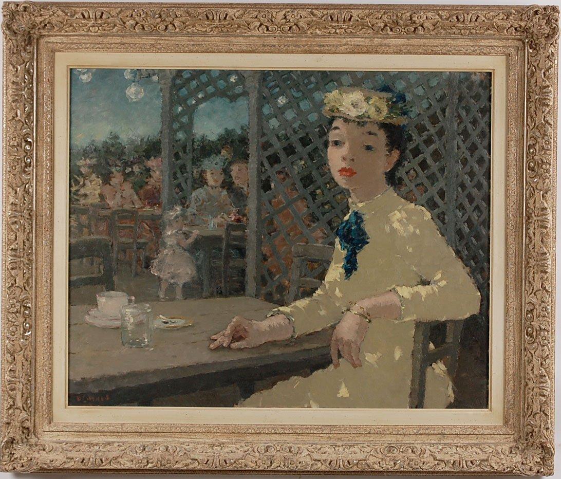 DIETZ EDZARD (1893 - 1963) OIL ON CANVAS FRENCH CAFÉ' S