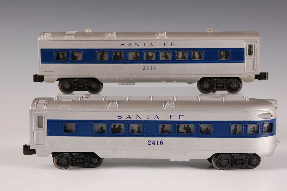 TWO LIONEL PASSENGER CARS, 2414, 2416