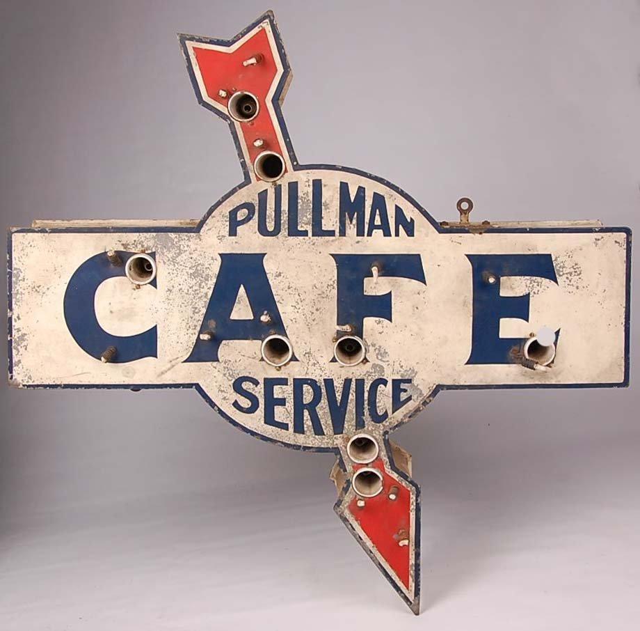 PULLMAN SERVICE CAFÉ NEON SIGN - AS FOUND