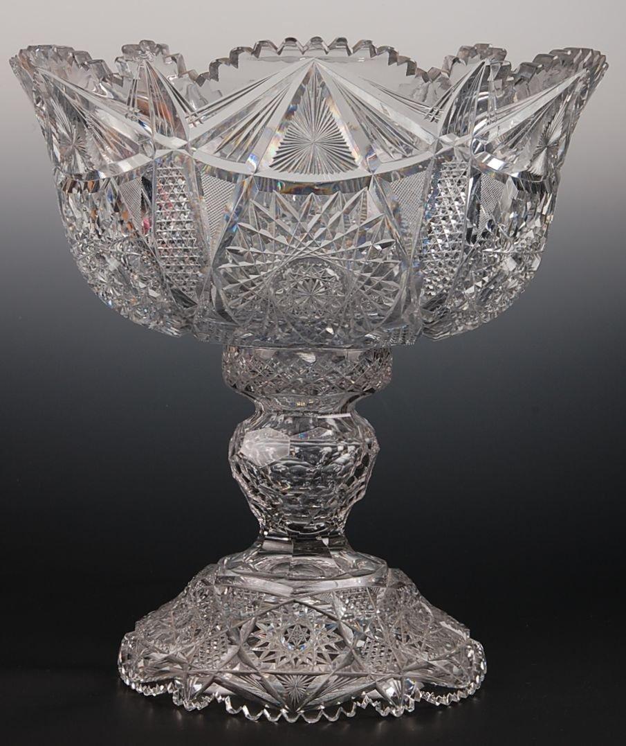 'ARGO' Pattern American Brilliant Cut Glass Punch Bowl