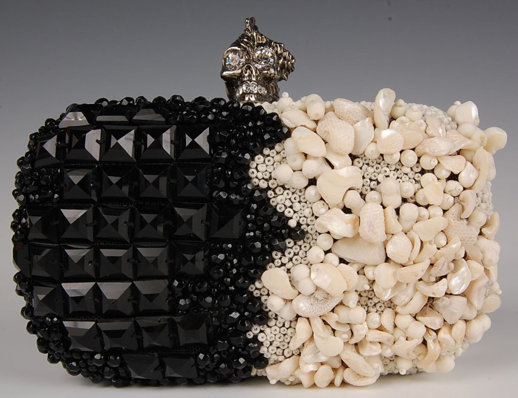 ALEXANDER McQUEEN PUNK SHELL BOX CLUTCH