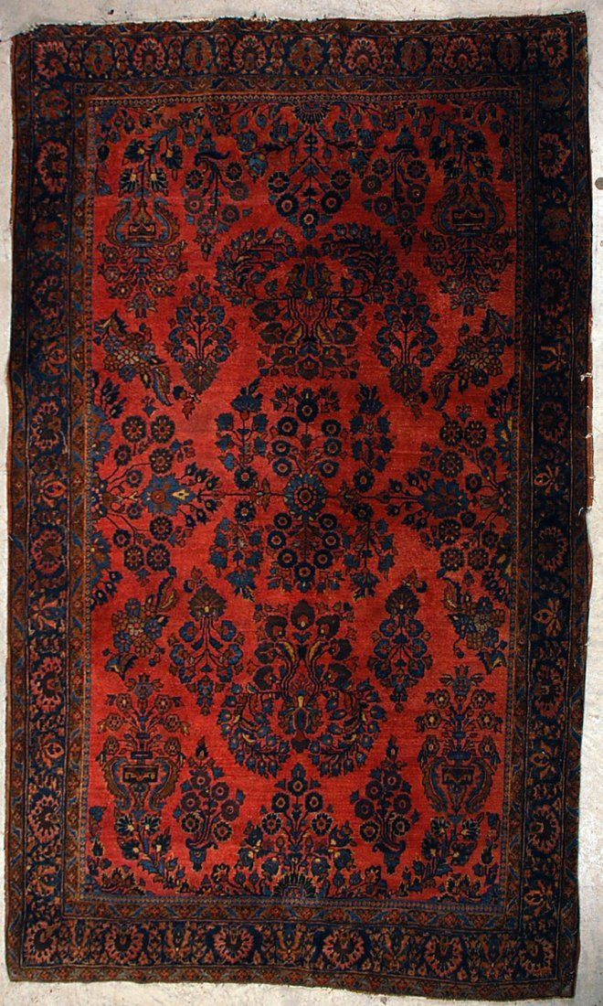 CIRCA 1920 PERSIAN SAROUK AREA RUG