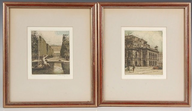 JOSEF EIDENBERGER (1899 - 1991) PENCIL SIGNED ETCHINGS