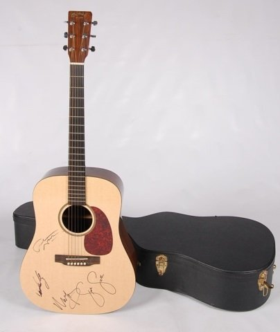 MARTIN GUITAR SIGNED BY CROSBY, STILLS,  NASH & YOUNG