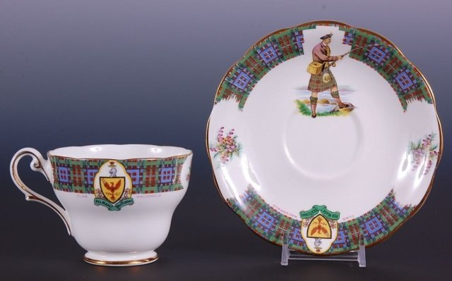 BONNIE SCOTLAND CUP AND SAUCER WITH FISHERMEN