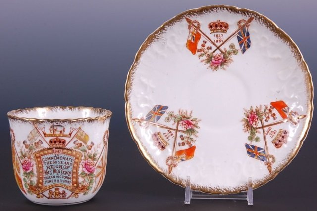 QUEEN VICTORIA 60 YEAR COMMEMORATIVE CUP & SAUCER