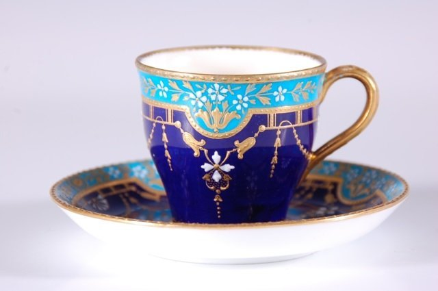 MINTON DEMITASSE CUP AND SAUCER FOR TIFFANY & COMPANY