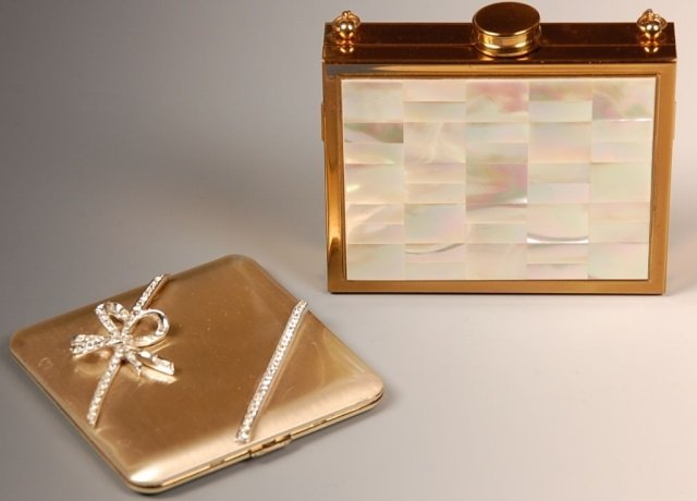 WADSWORTH COMPACT & MOTHER-OF-PEARL VANITY CASE