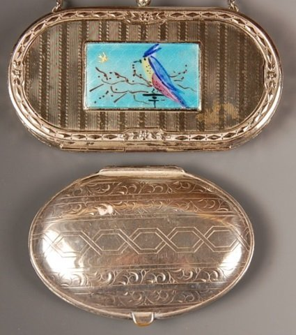 D.F.B. CO. GUILLOCHÉ VANITY CASE & A DUO COMPACT
