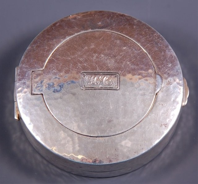 O.J. CATHCART ART DECO STERLING DUO COMPACT