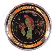 BUTTERFLY WING COMPACT WITH PARROTS