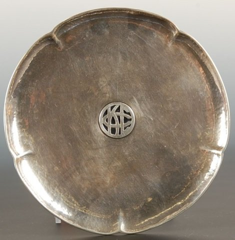 CHICAGO SILVERSMITH ARTS AND CRAFTS HAMMERED STERLING