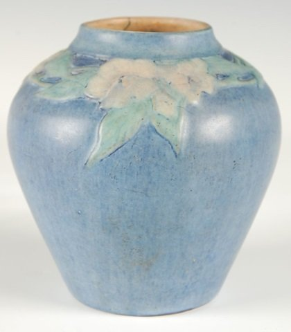 NEWCOMB COLLEGE ART POTTERY VASE WITH CARVED FLORALS