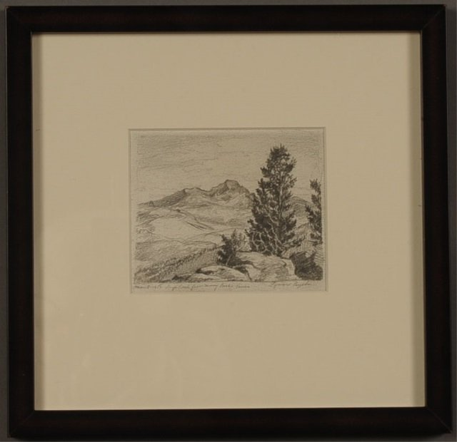 LYMAN BYXBE (1886-1980) GRAPHITE ON PAPER