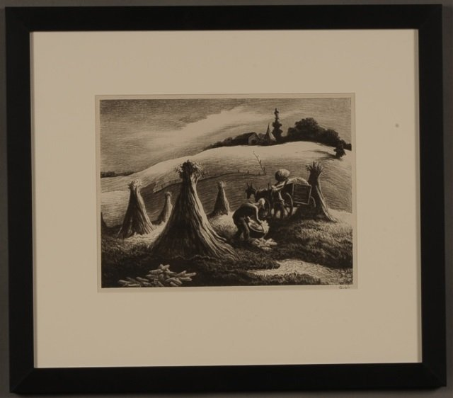 THOMAS HART BENTON (1899-1975) PENCIL SIGNED LITHOGRAPH