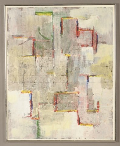 PHIL SMITH (KANSAS CITY) OIL ON PAPER ABSTRACTION