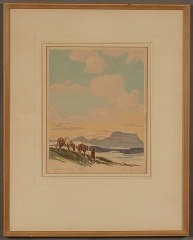 GLENN WHEETE (1884-1965) PENCIL SIGNED LITHOGRAPH