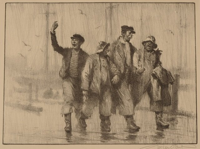 GORDON GRANT (1875-1962) PENCIL SIGNED LITHOGRAPH 'IT'S