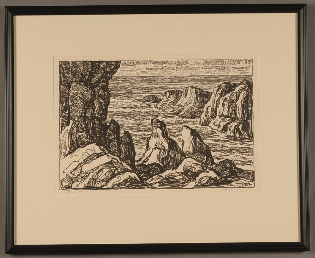 BIRGER SANDZEN (1871-1954) PENCIL SIGNED LITHOGRAPH,