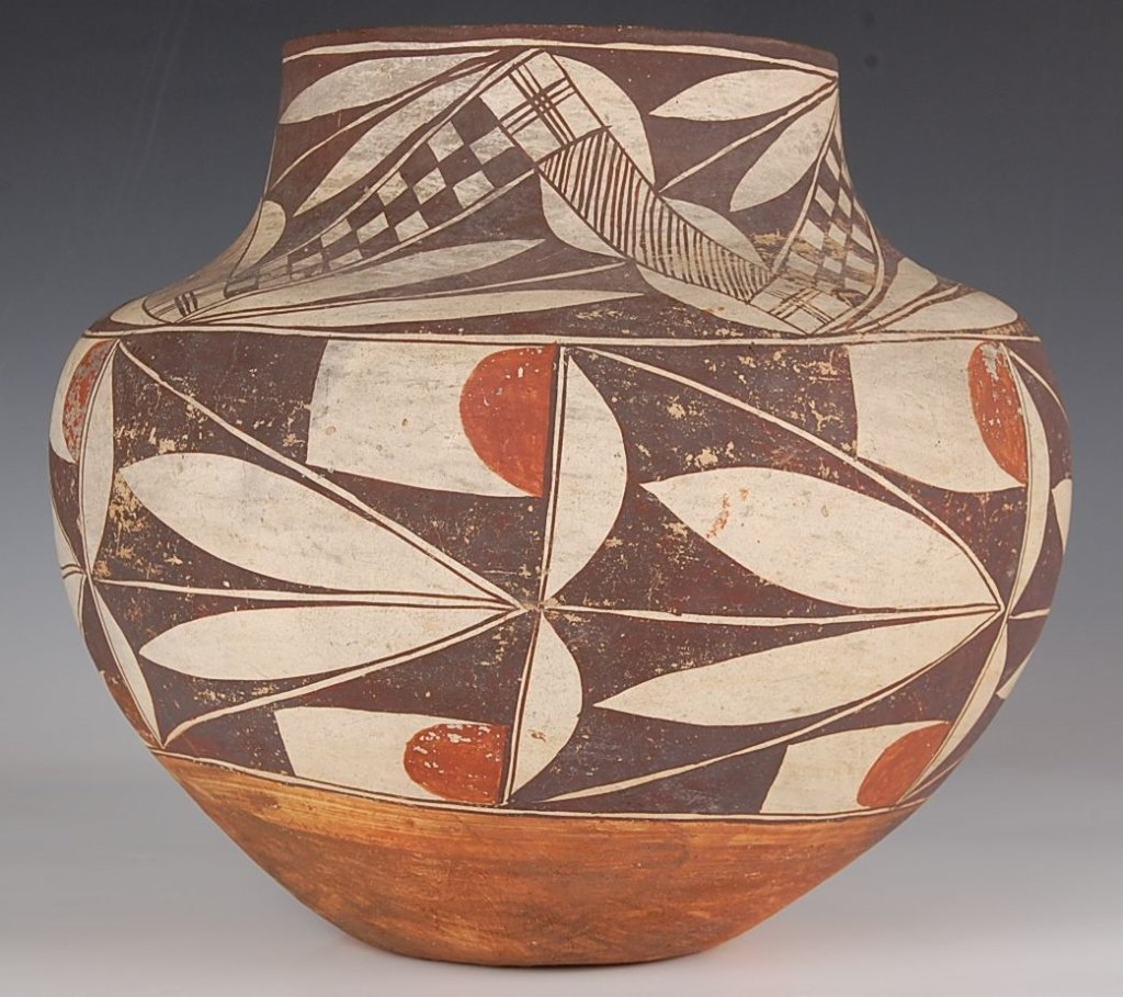 LARGE 19TH CENTURY ACOMA POTTERY OLLA