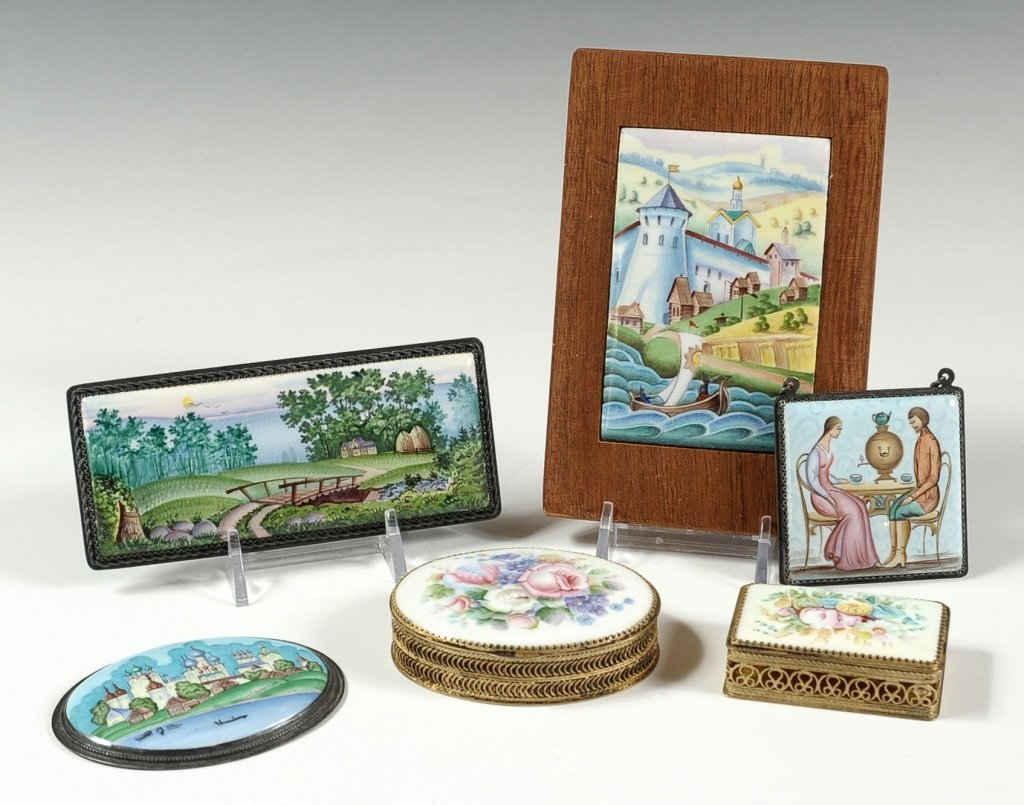 A GROUP OF MODERN RUSSIAN ENAMELS