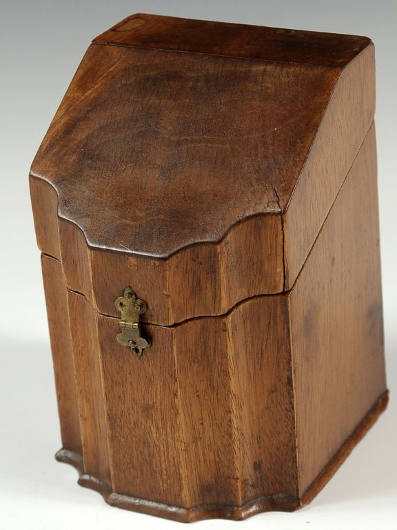 19TH CENTURY ENGLISH MINIATURE KNIFE BOX FORM CONTAINER