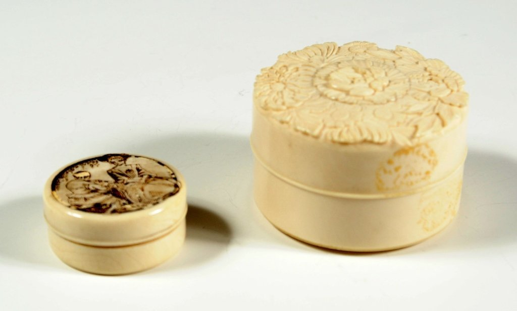 CONTINENTAL AND ASIAN IVORY BOXES