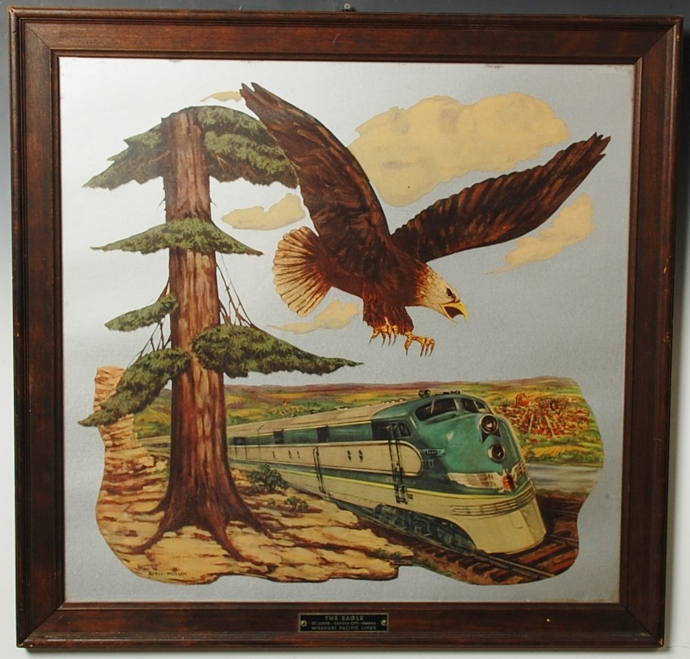 MISSOURI PACIFIC RR LINES ARTWORK 'THE EAGLE'